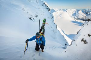 Steve Moffat climbing Mt Ian - Festival image of 2016