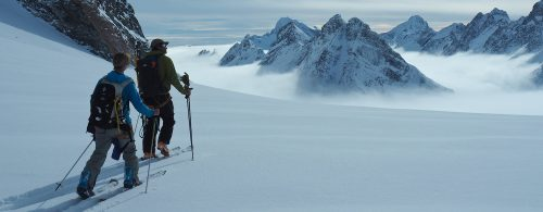 Ski and snowboard touring in Greenland. Photo by Anna Cook.